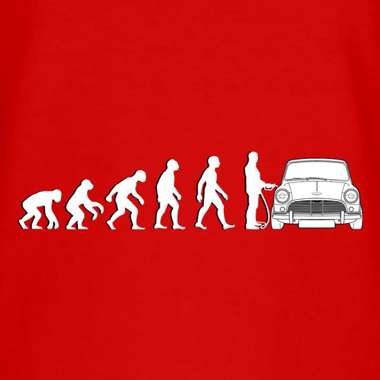 Evolution Of Man Austin Cooper Driver t shirt