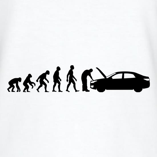 Evolution Of Man Car Mechanic t shirt