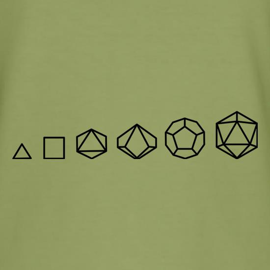 Evolution of Role Playing Dice t shirt