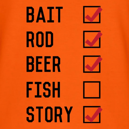 Fishing Checklist t shirt
