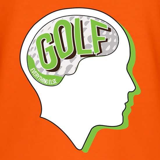 Golf On The Brain t shirt