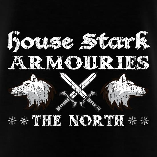 House Stark Armouries t shirt