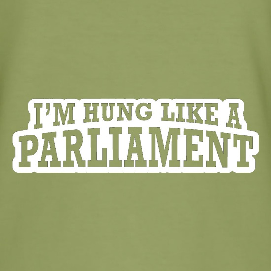 I'm Hung Like A Parliament t shirt