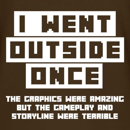 I Went Outside Once t shirt