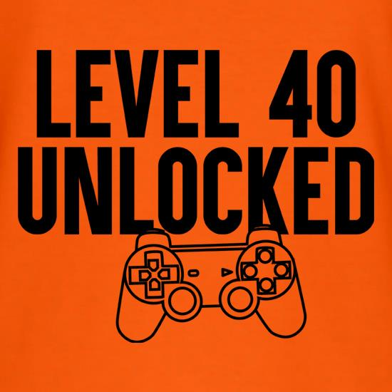 Level Forty Unlocked t shirt