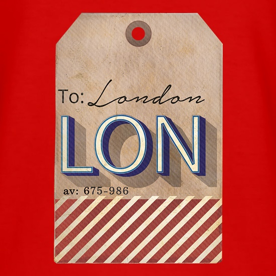 London Luggage Tag t shirt