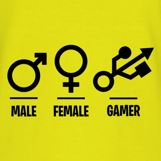 Male/Female/Gamer t shirt