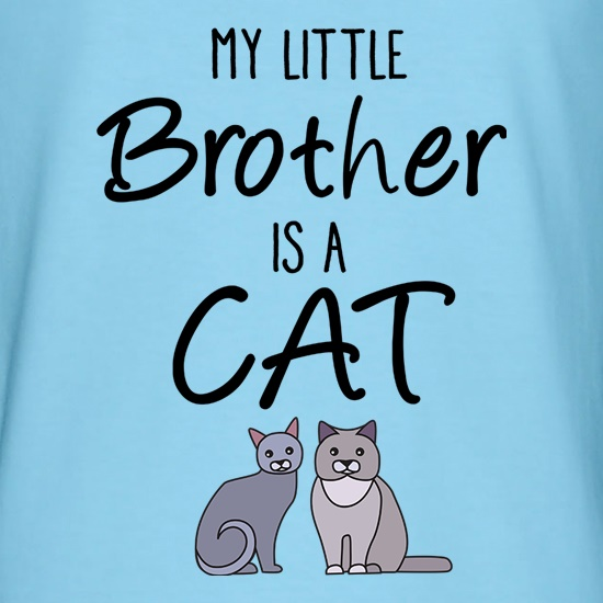 My Little Brother Is A Cat t shirt