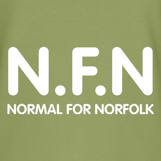 N.F.N - Normal for Norfolk t shirt