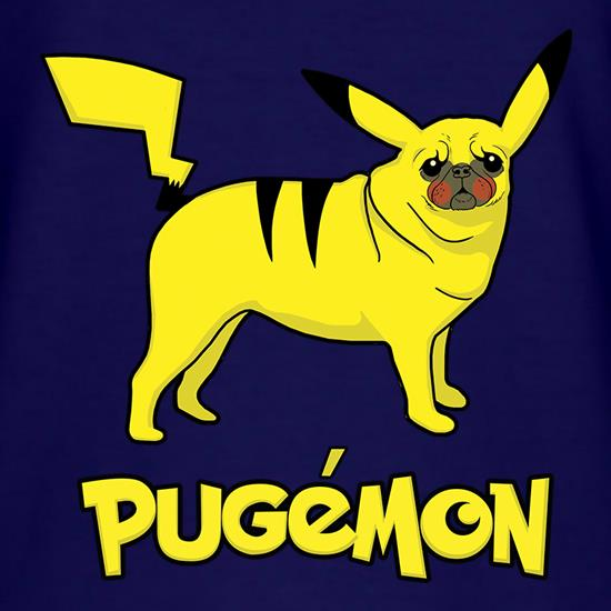 Pugamon t shirt
