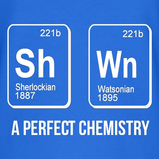 SherlockHolmes -A Perfect Chemistry t shirt