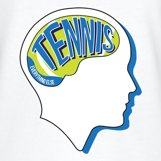 Tennis On The Brain t shirt