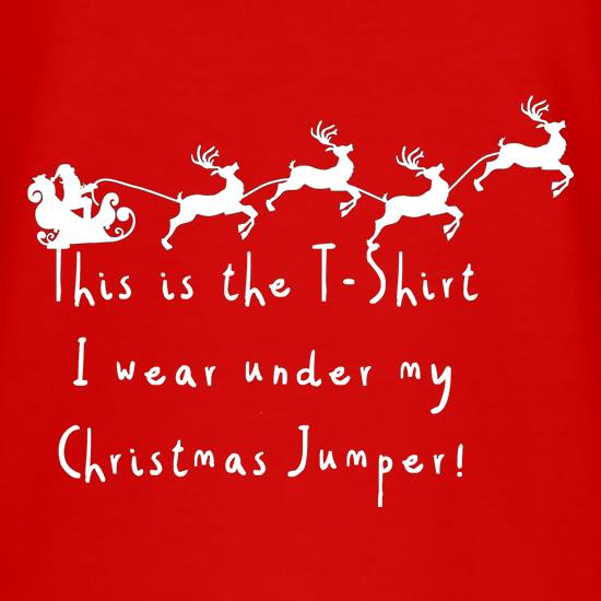 This is the T-shirt I wear under my Christmas jumper t shirt