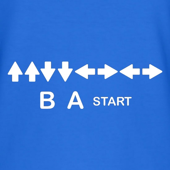 Up Up Down Down Left Right Left Right B A Start t shirt