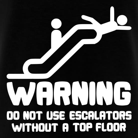 Warning Escalators t shirt