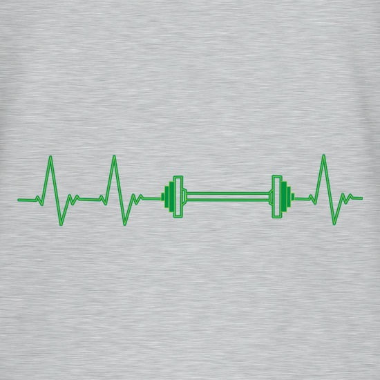 Weights Heartbeat t shirt